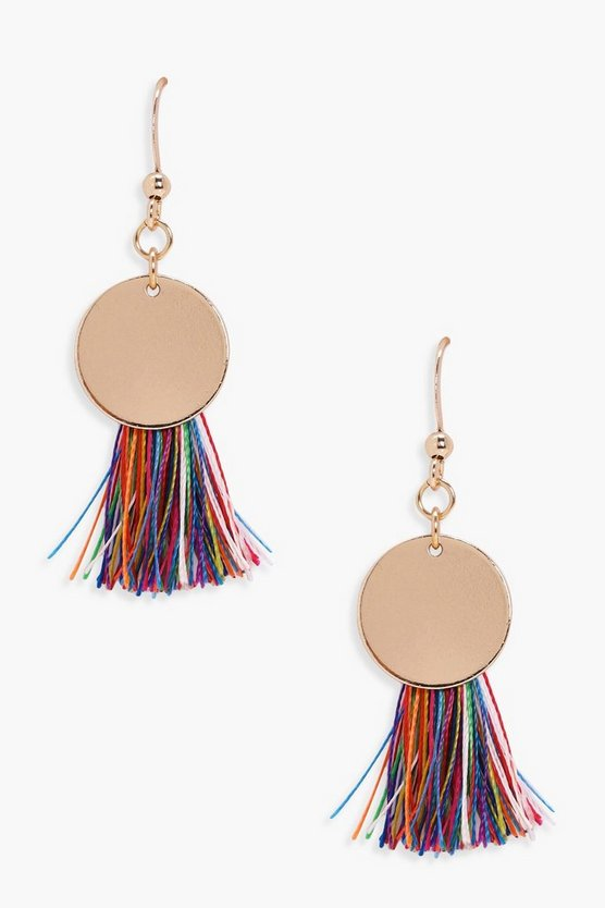 Lucy Disc Tassel Earrings
