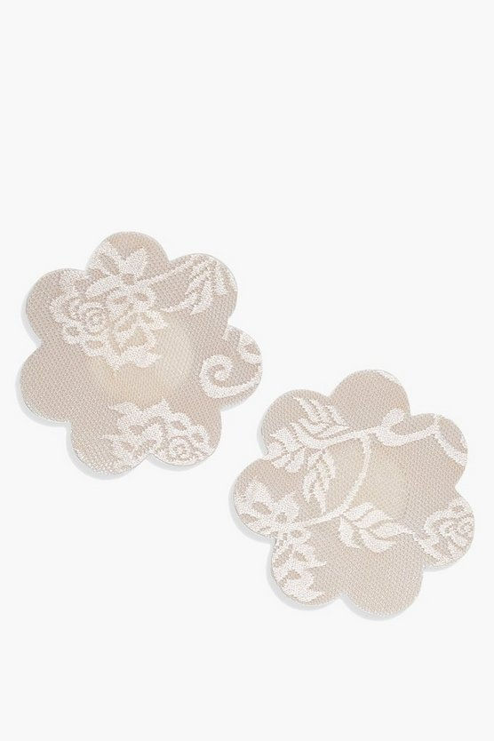 Nude Flower Print Nipple Covers