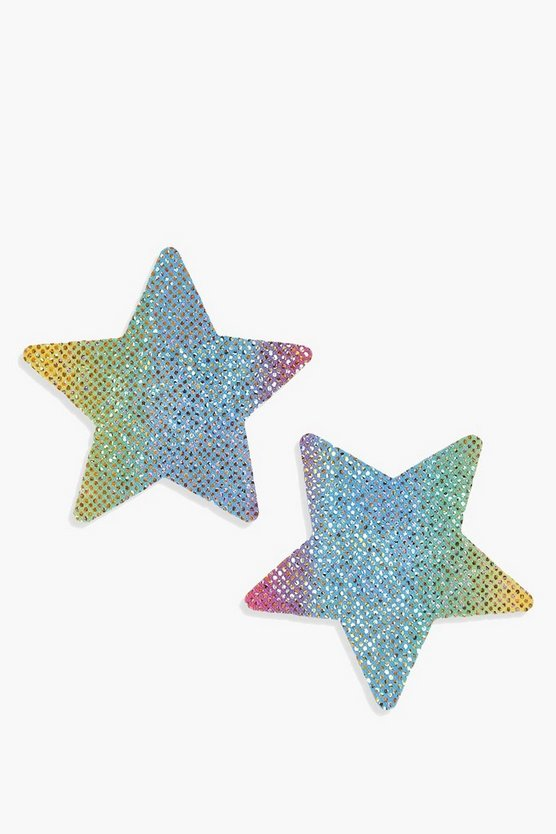 Holographic Star Nipple Covers