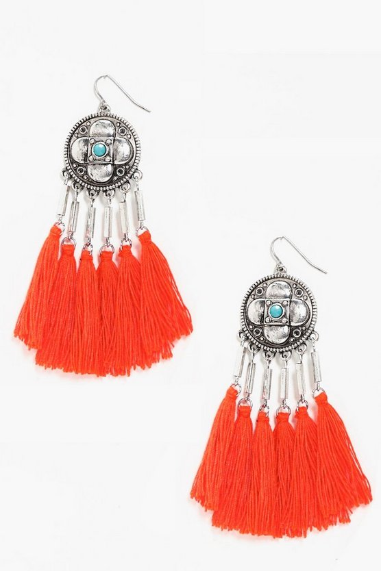 Josie Statement Boho Tassel Earrings