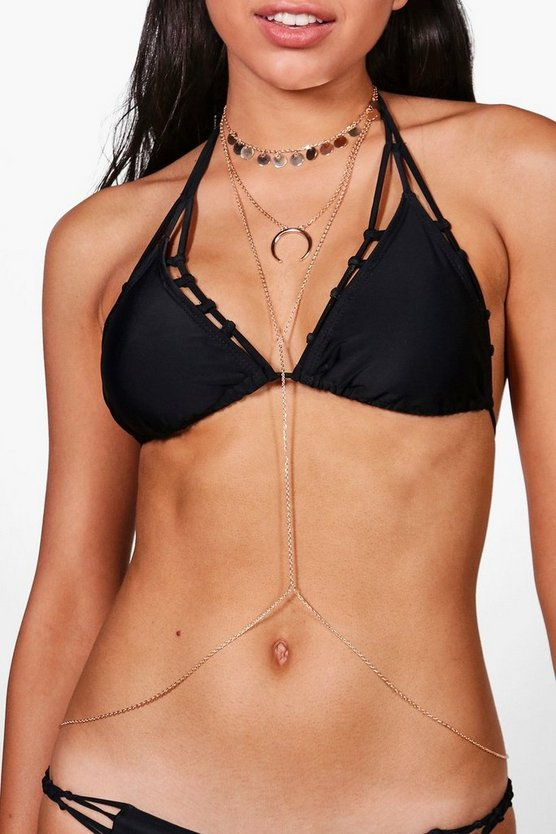 Melissa Coin and Horn Body Chain