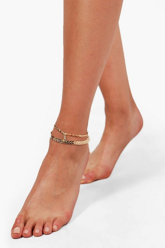 Louise Star Detail Anklet 2 Pack