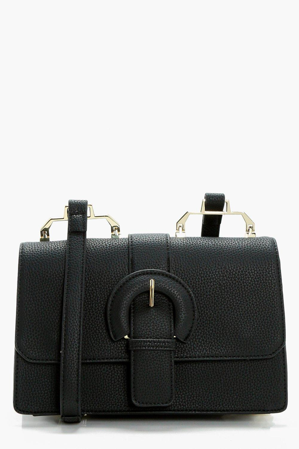 Buckle &Hardwear Detail Cross Body - black - Bella