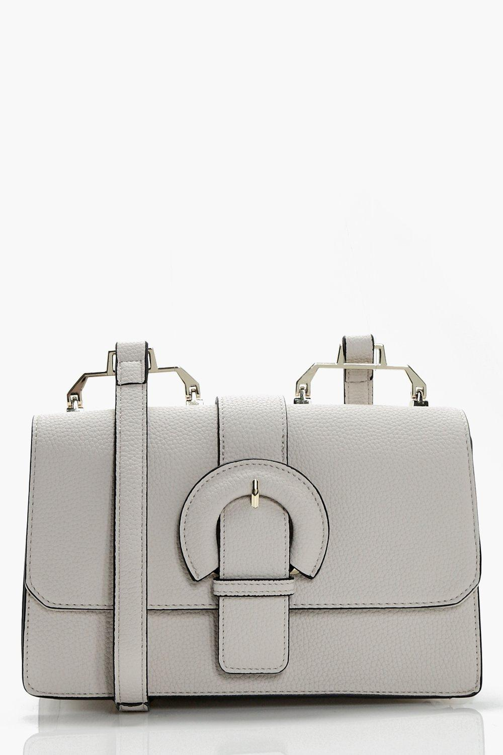 Buckle &Hardwear Detail Cross Body - grey - Bella
