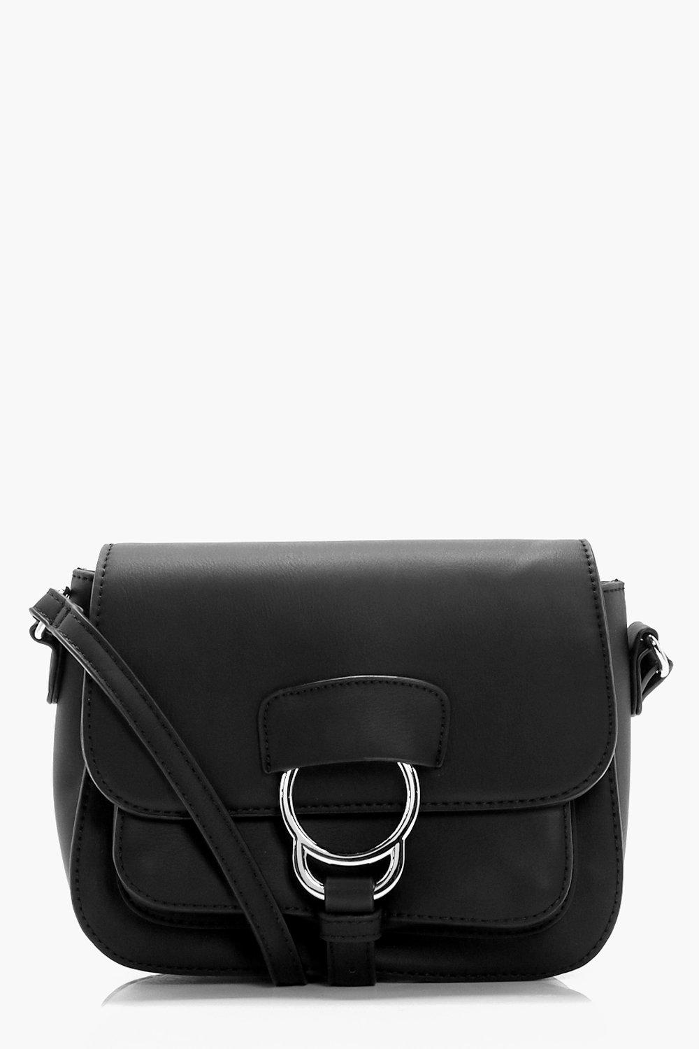Ring Detail Cross Body - black - Lilly Ring Detail