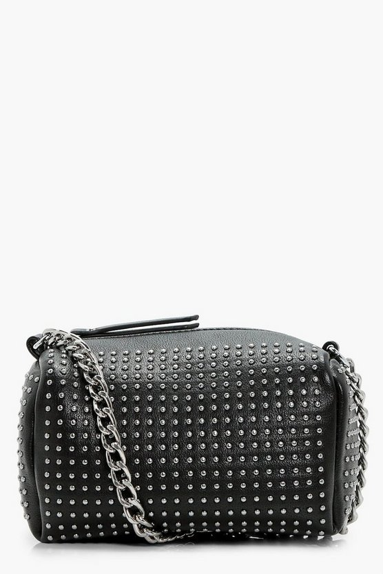 Pin Stud Barrel Cross Body