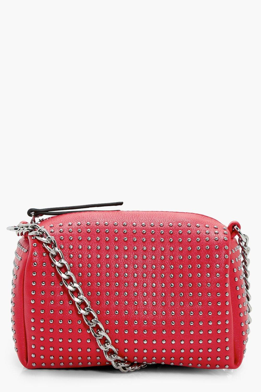 Stud Barrel Cross Body - red - Pin Stud Barrel Cro
