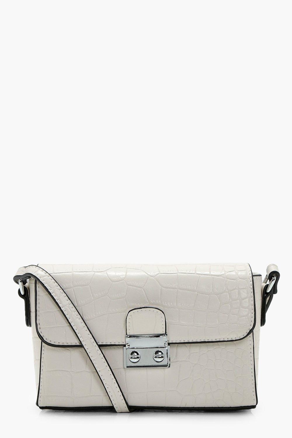 Croc & Lock Cross Body - beige - Chantelle Croc &