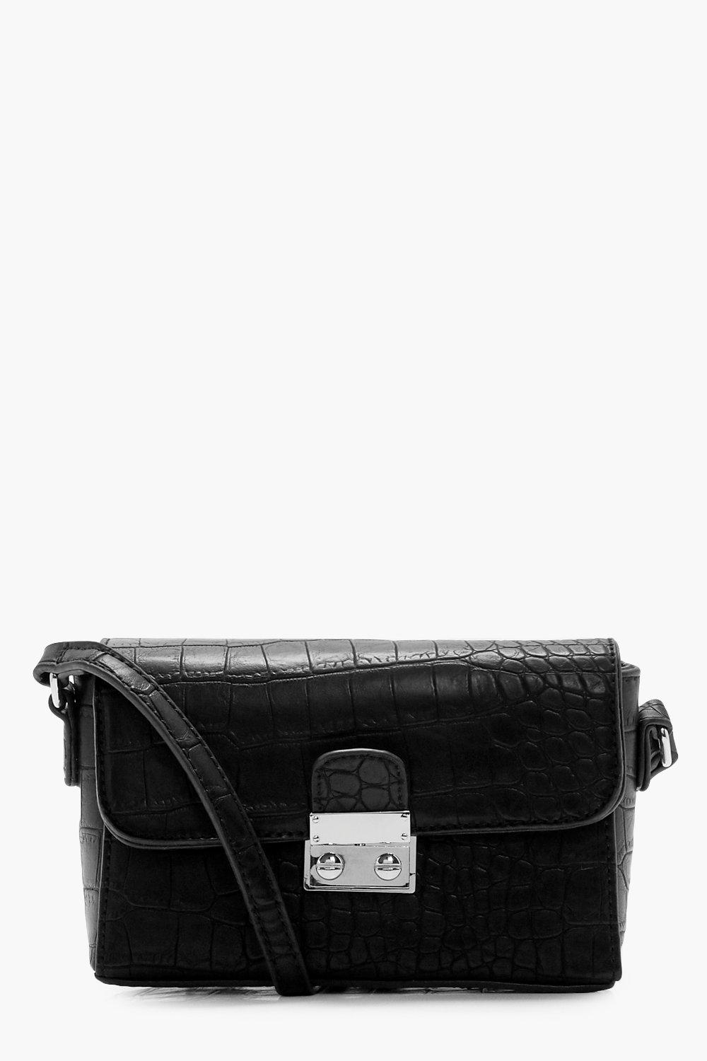 Croc & Lock Cross Body - black - Chantelle Croc &