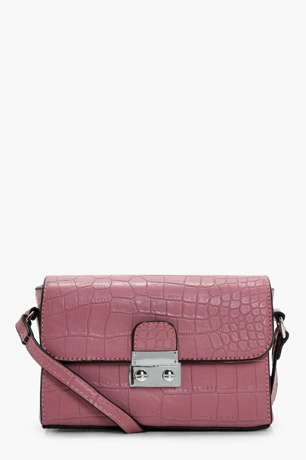 Croc & Lock Cross Body - pink - Chantelle Croc & L