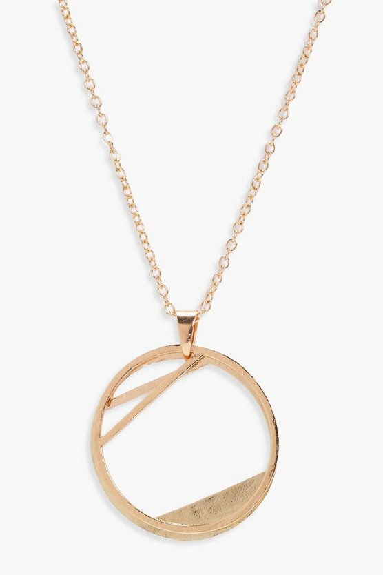 Sarah Double Hoop Necklace