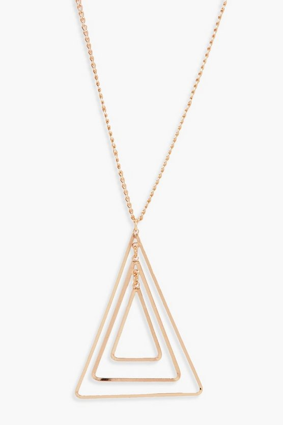 Emma Layered Geo Triangle Necklace