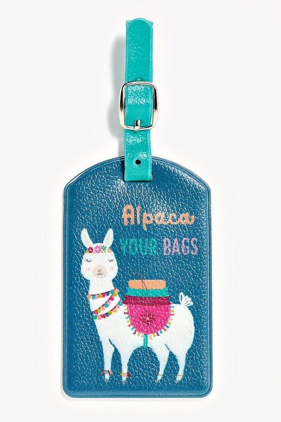 Alpaca Luggage Tag