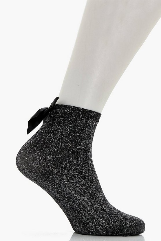 Emma Lurex Large Bow Socks