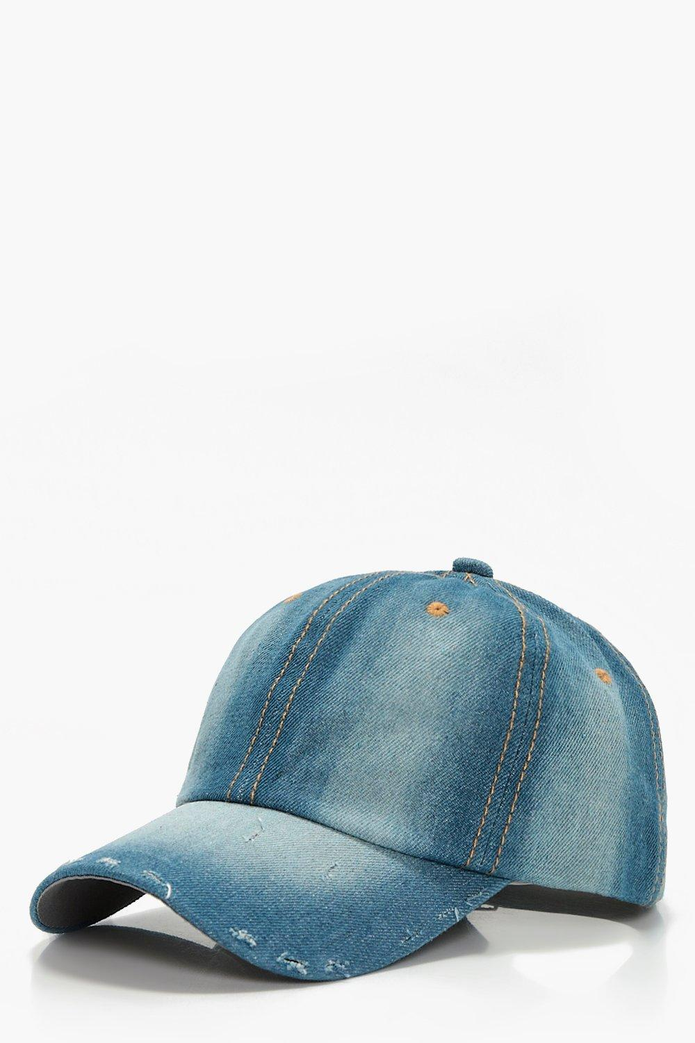 Distressed Denim Cap - blue - Lucy Distressed Deni