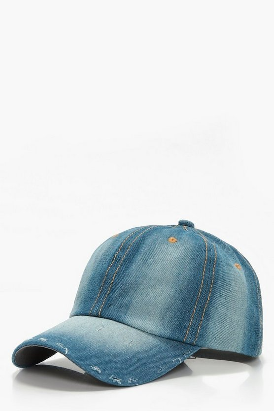 Lucy Distressed Denim Cap