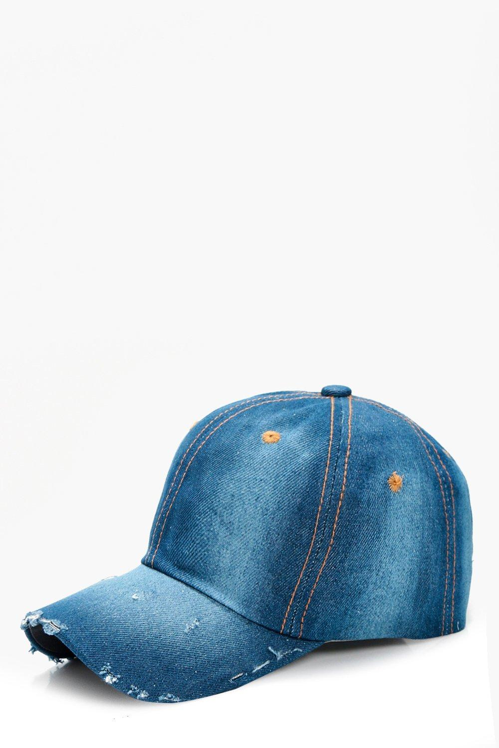 Distressed Denim Cap - dark blue - Lucy Distressed