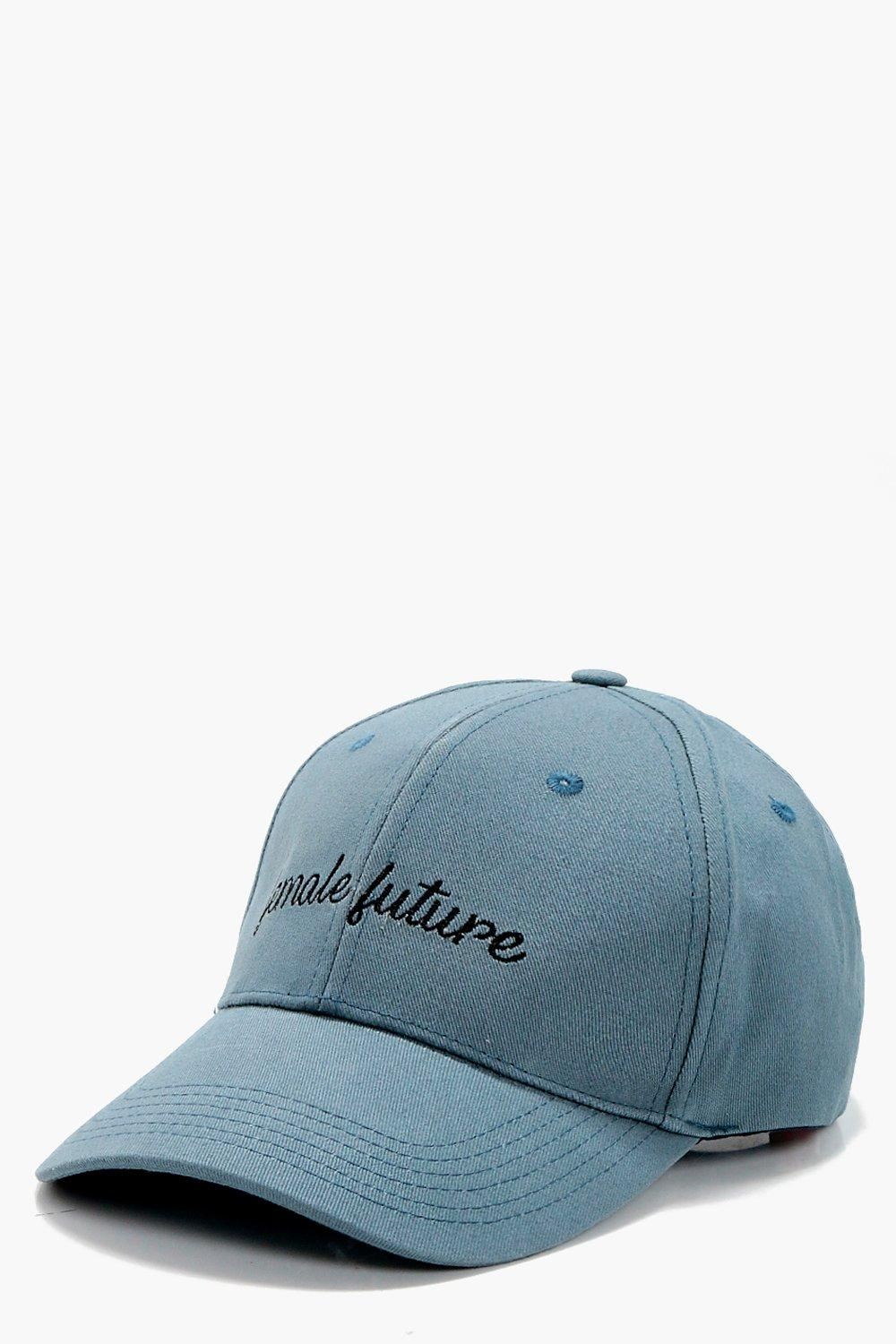 Female Future Slogan Cap - blue - Millie Female Fu