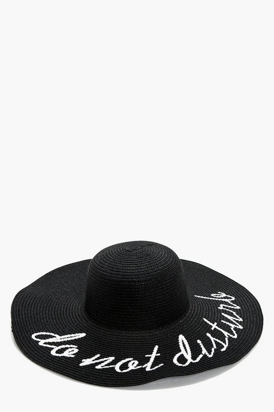 Amber Do Not Disturb Straw Summer Hat