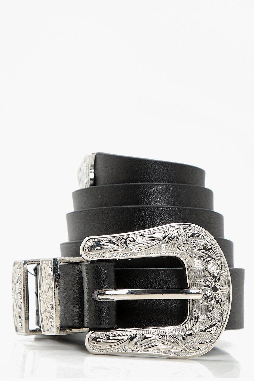 Single Buckle Western Belt - black - Adira Single