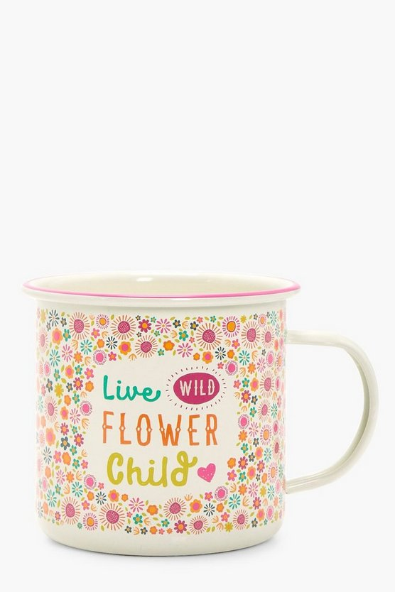 Enamel Festival Mug Flower Child