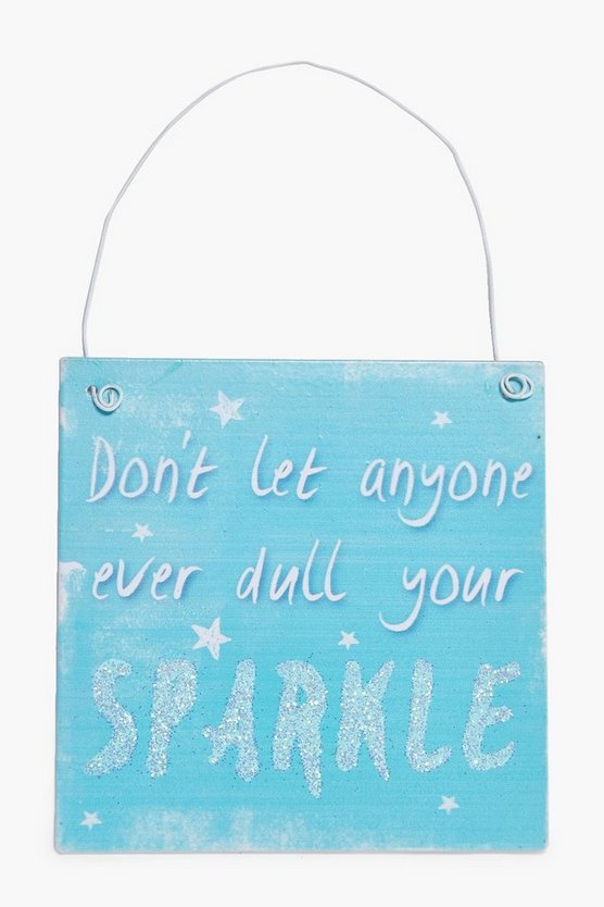 Sparkle Metal Sign