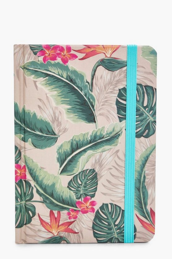 Tropical Leaf Print Notebook
