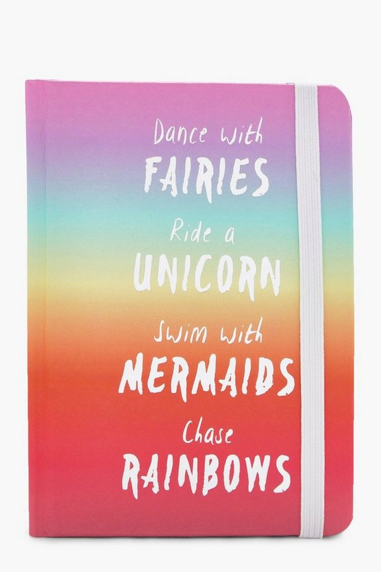A6 Rainbow Slogan Notebook