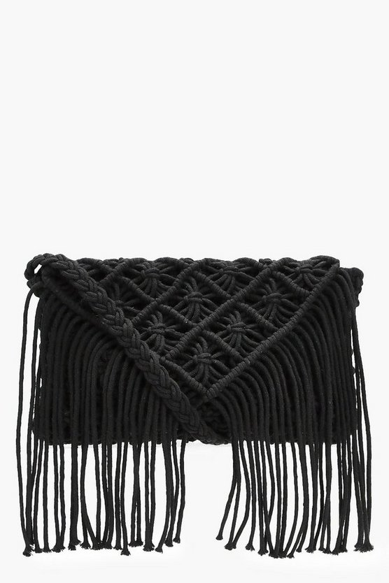 Alex Crochet Tassel Cross Body Bag