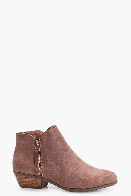 Eve Zip Trim Ankle Boots