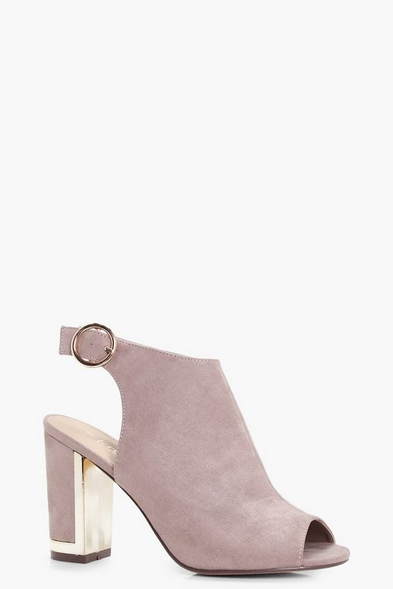 Maria Metallic Detail Sling Back Heel