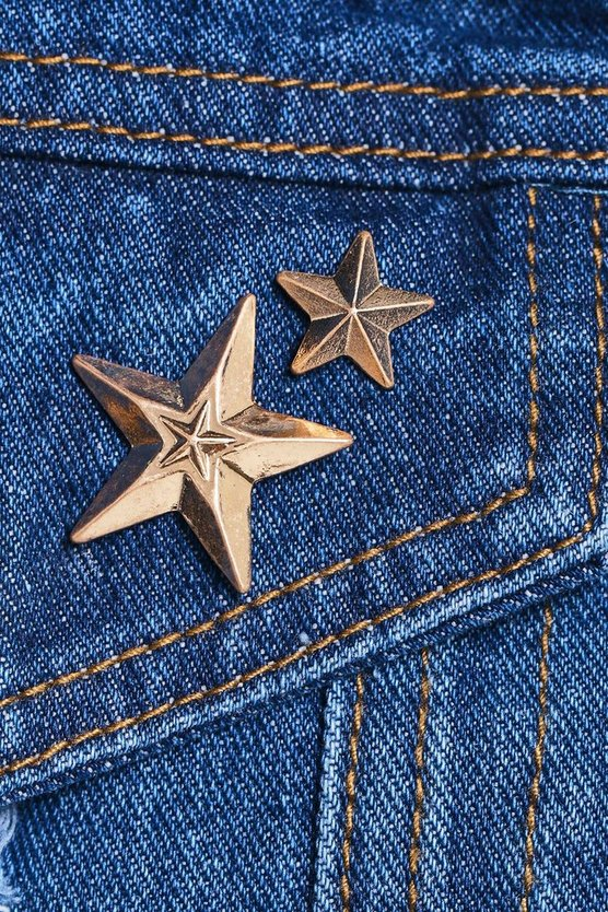 Kerry Star 2 Pack Pin Brooches
