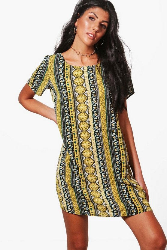 Lucy Paisley Border Print Shift Dress
