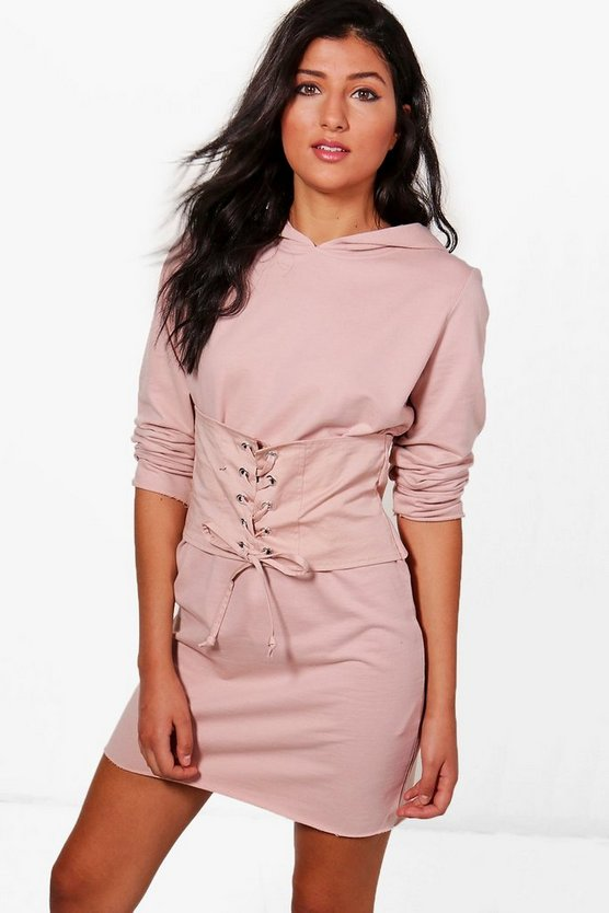 Elora Corset Hooded Sweat Dress