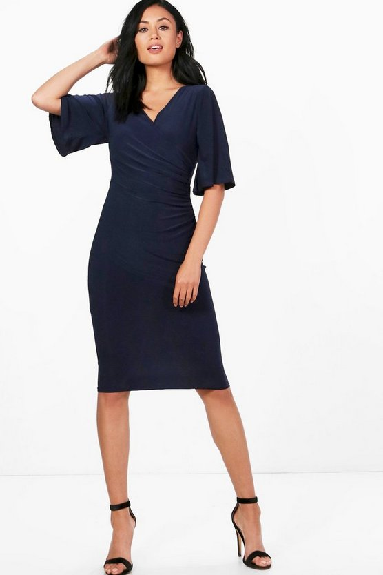 Eloise Gathered Waist Midi Dress
