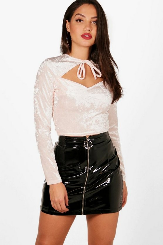 Lottie Velvet Cut Out Crop