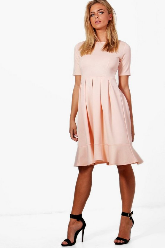 Elizabeth Full Skirt Scuba Swing Dress