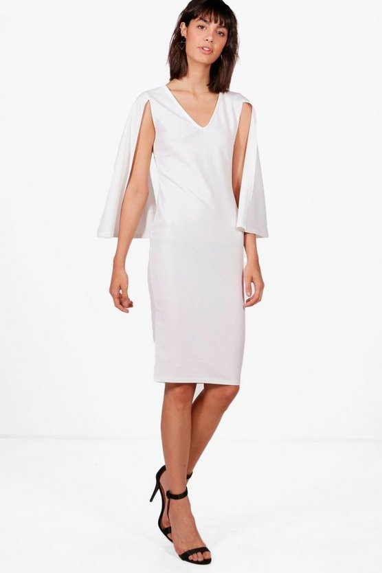Francesca Cape Sleeve Fitted Dress