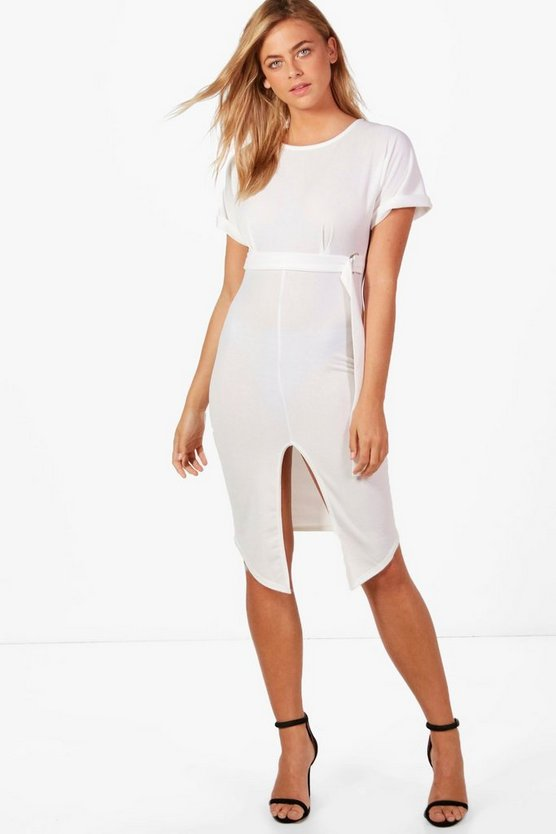 Olivia D-Ring Belted Midi Dress
