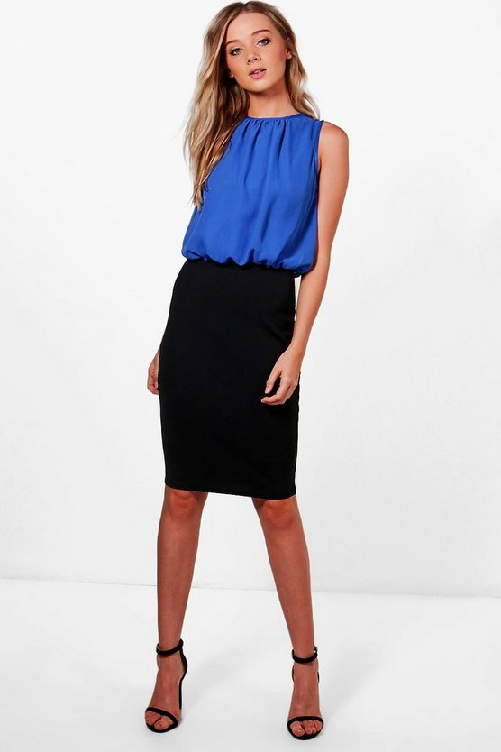 Erin Contrast Chiffon Top Dress