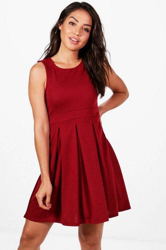Leah Sleeveless Skater Dress