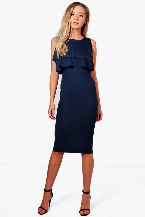 Sarah Midi Ruffle Dress