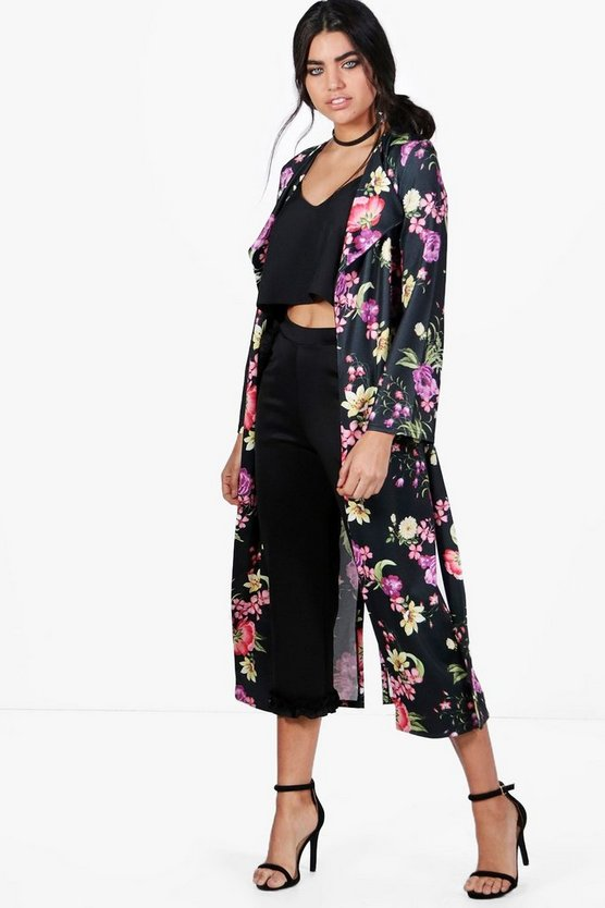 Alison Floral Belted Maxi Duster