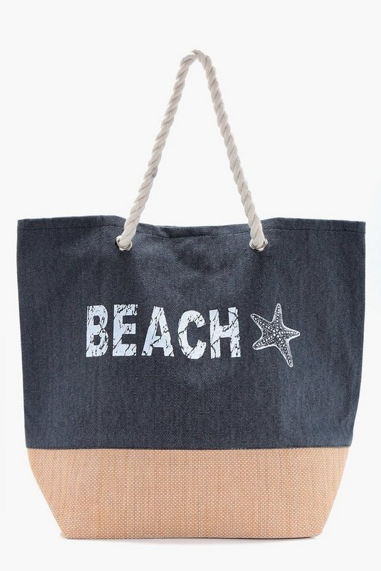 Lucy Beach Slogan Beach bag