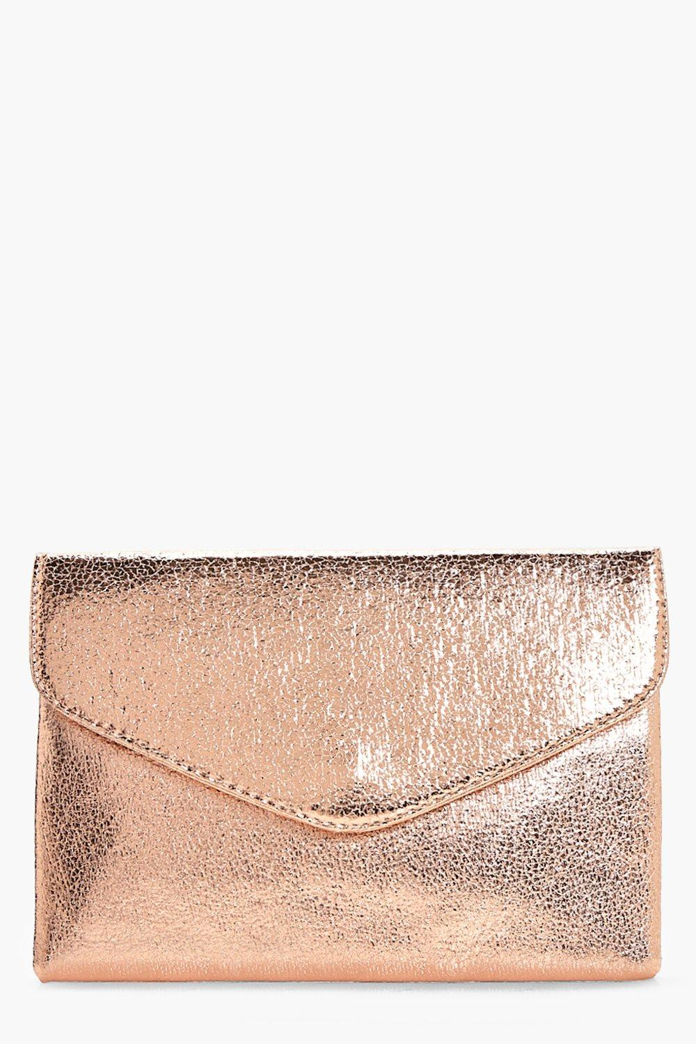 Cracked Metallic Clutch - rose - Emma Cracked Meta