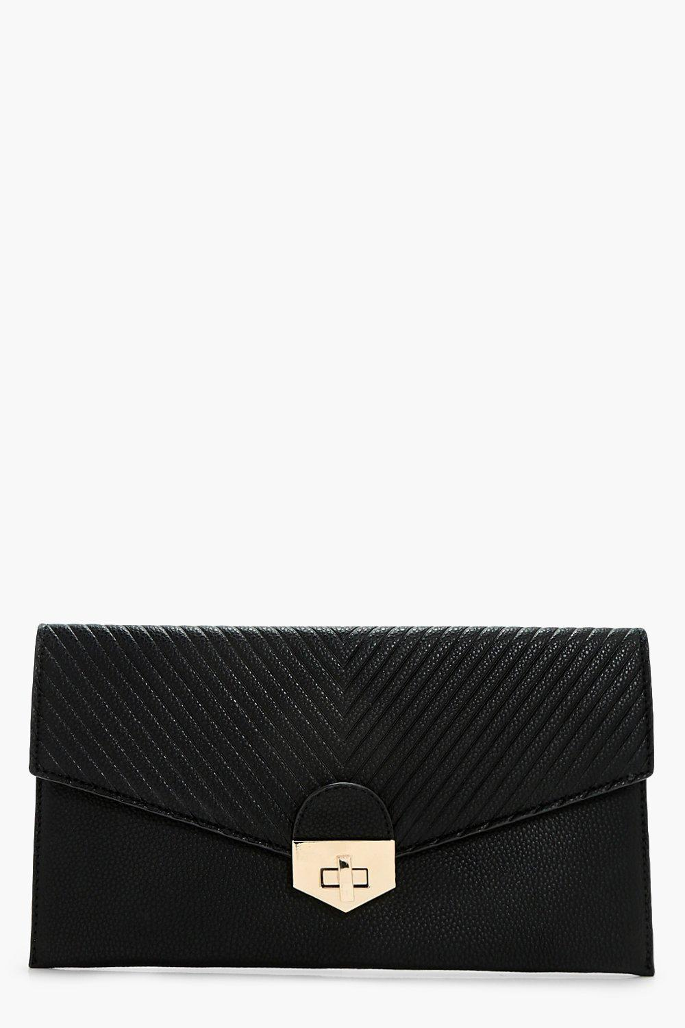Quilt & Lock Clutch - black - Sarah Quilt & Lock C