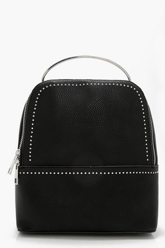 Kate Pin Stud & Metal Handle Rucksack