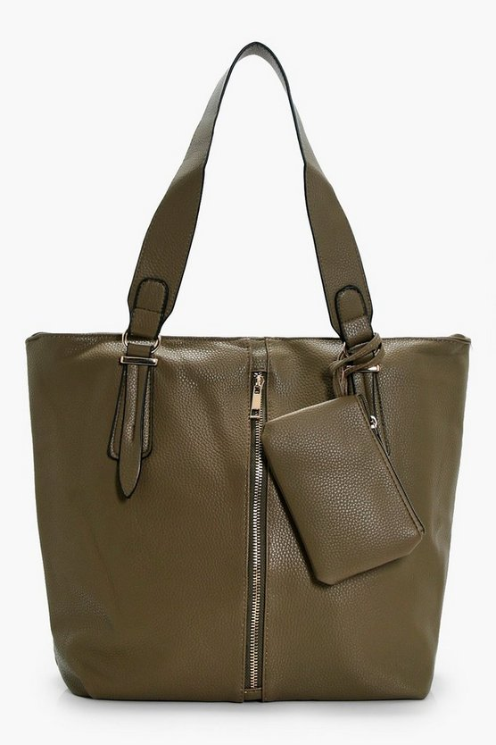 Kirsten Zip Detail Day Bag With Purse