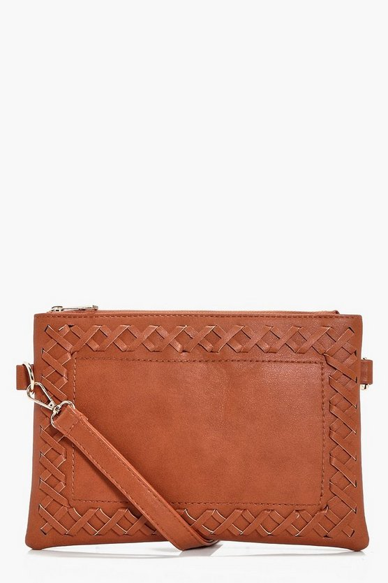 Laura Whipstitch And Tassel Cross Body Bag