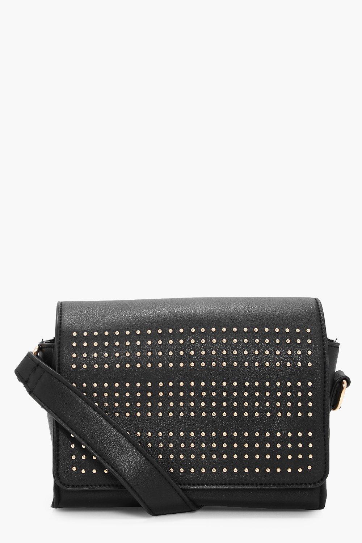 Pin Stud Box Cross Body Bag - black - Kirsten Pin